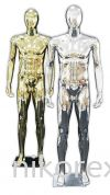 37751-M01-GOLD & SILVER MALE MANNEQUIN Male Abstract Plastic Mannequin