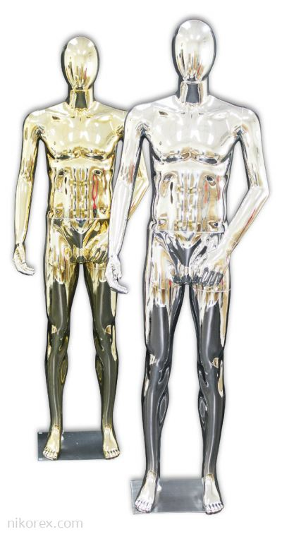 37752-M03-GOLD & SILVER MALE MANNEQUIN