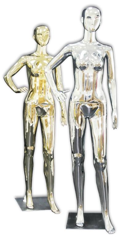 433201GD/433202SV �C FEMALE PLASTIC/M CHROME GOLD/SILVER