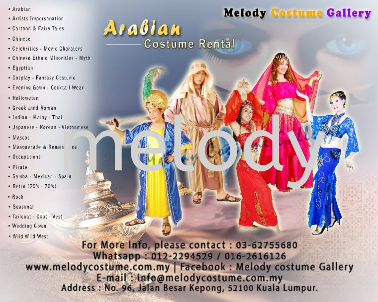 Melody Costume Gallery / Costume Rental - Arabian Costume
