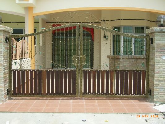 Mild Steel Gate With Wrought Iron 30