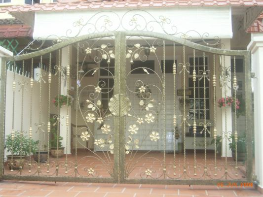Mild Steel Gate With Wrought Iron 36