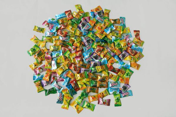 Loose  Pillow Packed Dino Fruity Candy and Camel Fruity Candy