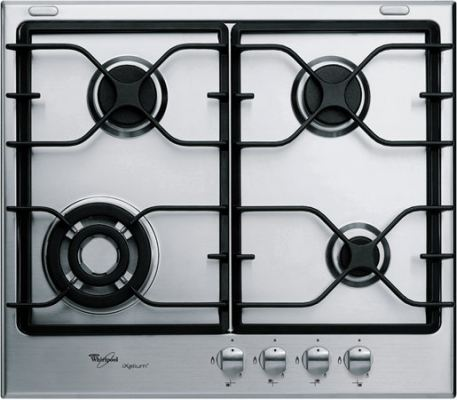 4 Burner Gas Hob in Stainless Steel with iXelium AKT 680 IXL