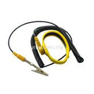 YELLOW SILICA GEL WRIST STRAP