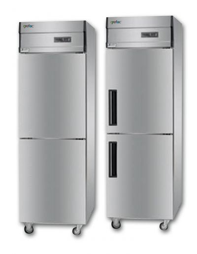Stainless Steel Plug-In Freezer 2 Doors