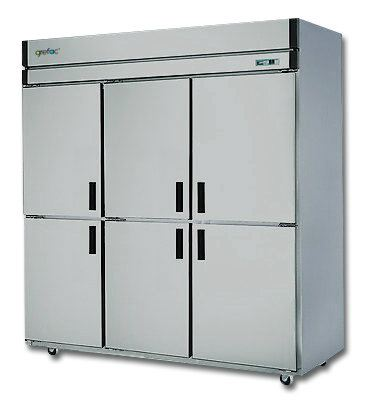 Stainless Steel Plug-In Freezer 6 Doors