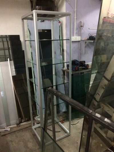Aluminium Glass Display Rack