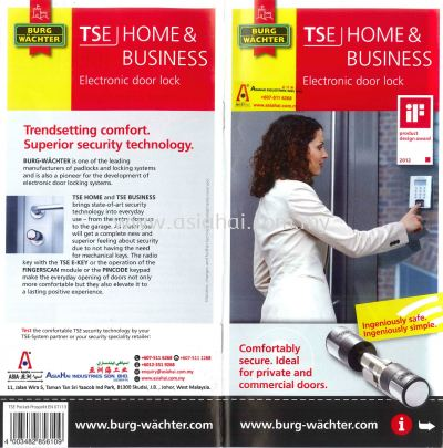 New Products - BURG WACHTER - Electronic Door Lock