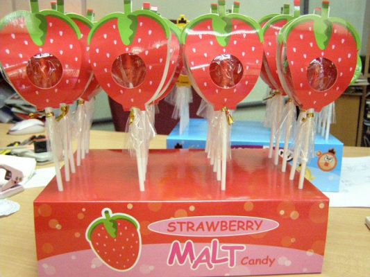 Strawberry Malt Candy