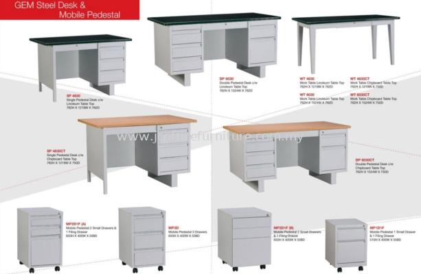 GEN Steel Desk & Mobile Pedestal