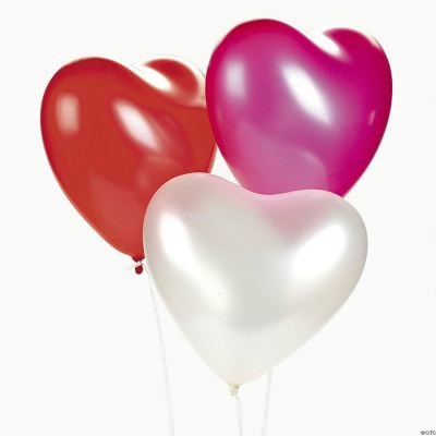 Atex 12 inch Latex Heart Shape Balloons