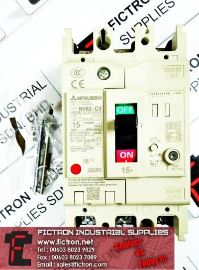 NV63-CV 3P 15A 100-440VAC 30mA MITSUBISHI ELECTRIC Contactor Supply Malaysia Singapore Thailand Indonesia Europe & USA