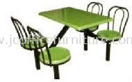 SCH0541(B1) 4 Seater Fibreglass Table with Backrest