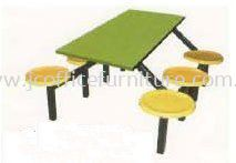 SCH0560 (2472) 6 Seater Fibreglass Table