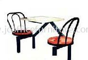 SCH0521 (B1) 2 Seater Fibreglass Table with Backrest