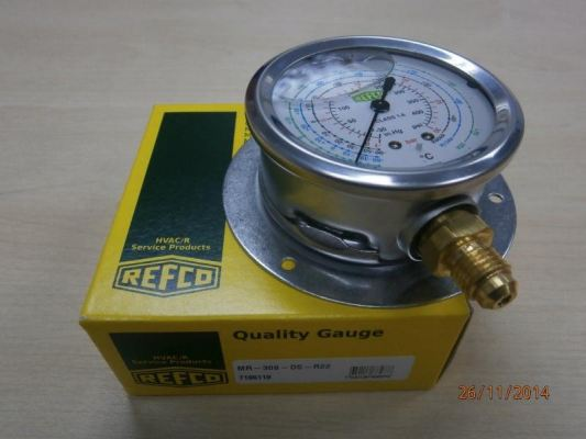 REFCO OIL-FILLED COMPOUND GAUGE  MR SERIES