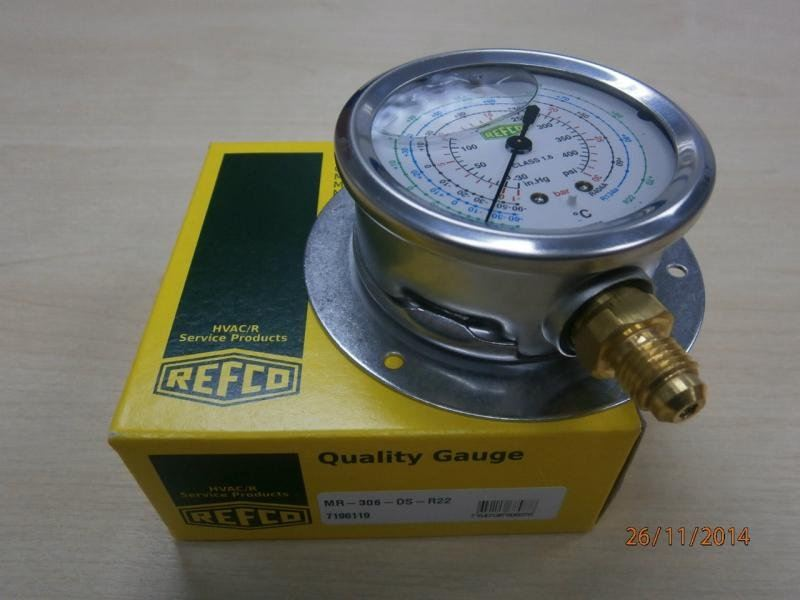 REFCO OIL-FILLED COMPOUND GAUGE  MR SERIES Refco Pressure Test Equipment and Accessories