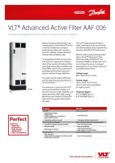 VLT Active Harmonic Filter AAF 006