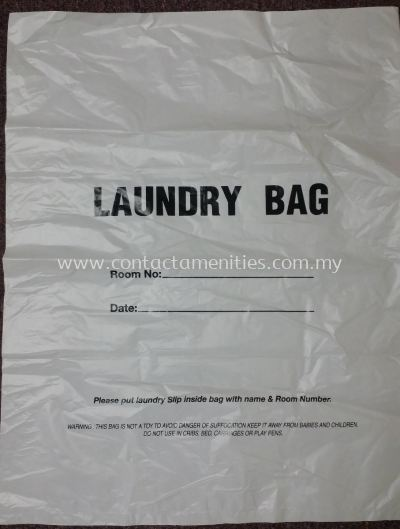 Laundry Bag with Wording
