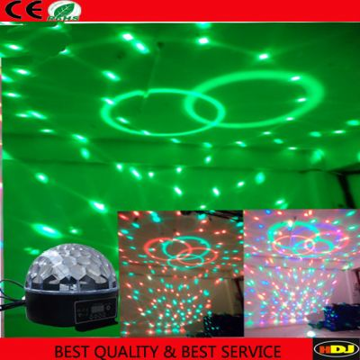 N-X014 Best price crystal DMX LED effect RGB magic ball lighting for bar