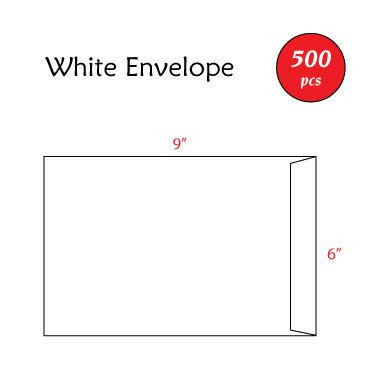 "6"" x 9"" White Envelope"