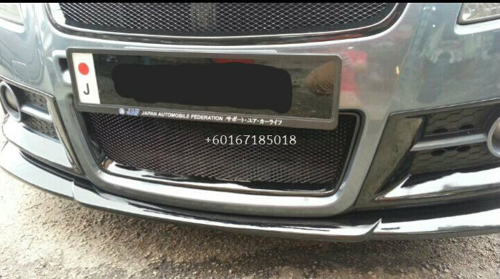 2005 2006 2007 2008 2009 2010 2011 suzuki swift zc31s sport front bumper lower grille trim chargespeed style swift sport add on upgrade performance look real carbon fiber material new set