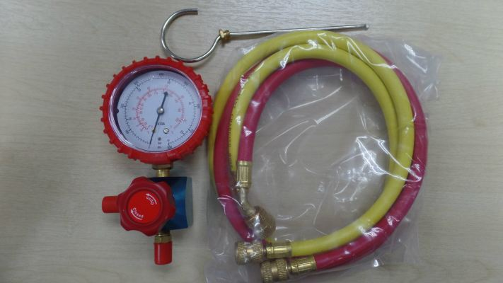 CULMI MG-1-R410A High and Low Side (R410A) Single Manifold c/w 3FT Hose (R&Y)