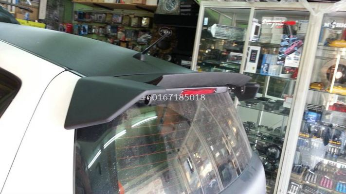 suzuki swift zc craft style spoiler for swift add on upgrade craft style performance look matt black fiber material new set