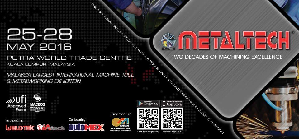 METALTECH 2016, PWTC May 2016 Year 2016 Past Listing
