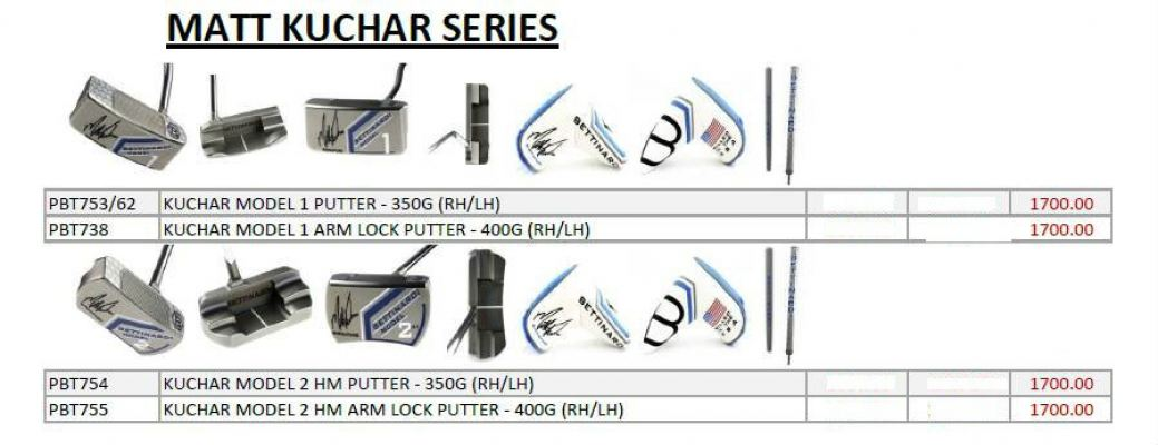 Bettinardi Matt Kuchar Series Putters