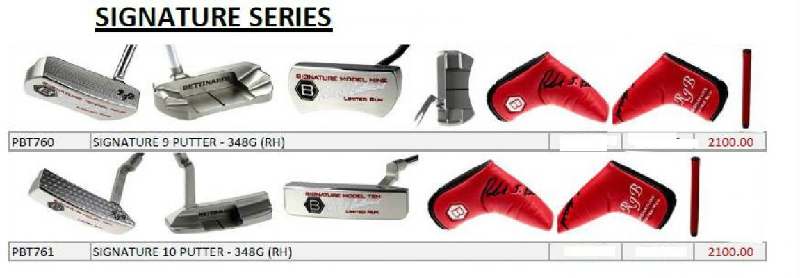 Bettirnardi Signature Series Putters