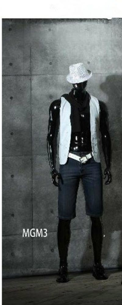 36163-MGM3 MALE MANNEQUIN GLOSSY BLACK