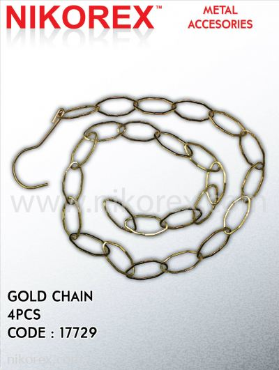 17729-GOLD CHAIN-(4PCS)