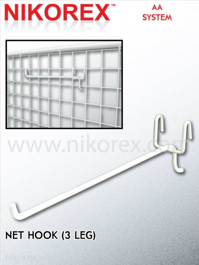 10121,10122, 10123, 10124, 10125, 10126-3LEG NET HOOK-WH-10PCS