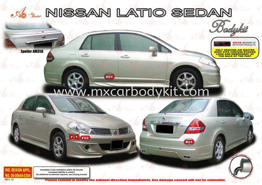 NISSAN LATIO SEDAN AM STYLE BODYKIT + SPOILER LATIO SEDAN NISSAN Johor, Malaysia, Johor Bahru (JB), Masai. Supplier, Suppliers, Supply, Supplies | MX Car Body Kit