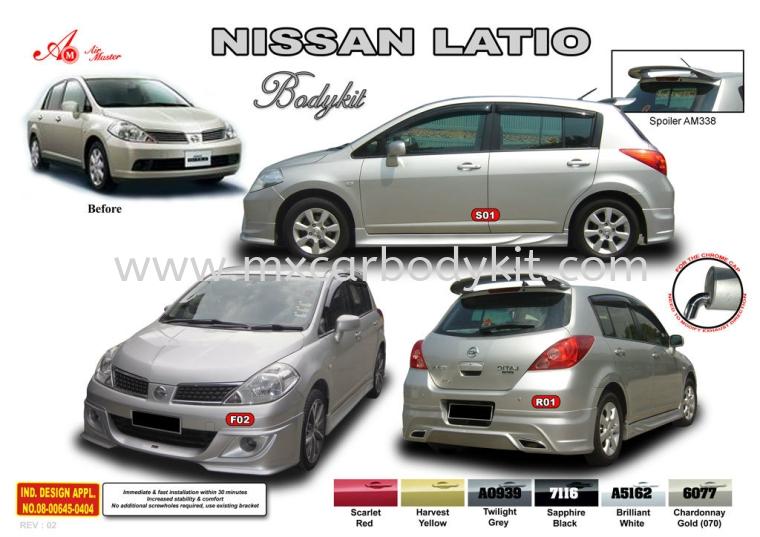 NISSAN LATIO AM STYLE BODYKIT + SPOILER LATIO HATHBACK 2012 (NON-FACELIFT) NISSAN