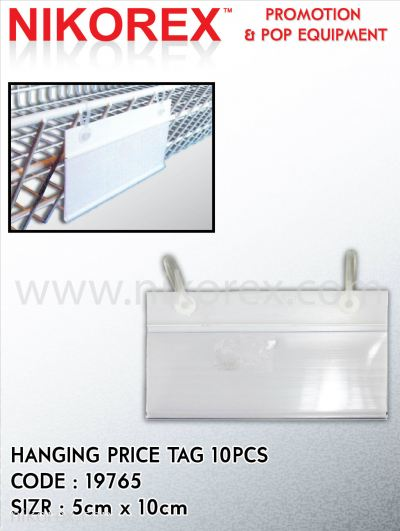 663004CL - HANGING TAG 50x100mm (CLEAR - 10PCS)