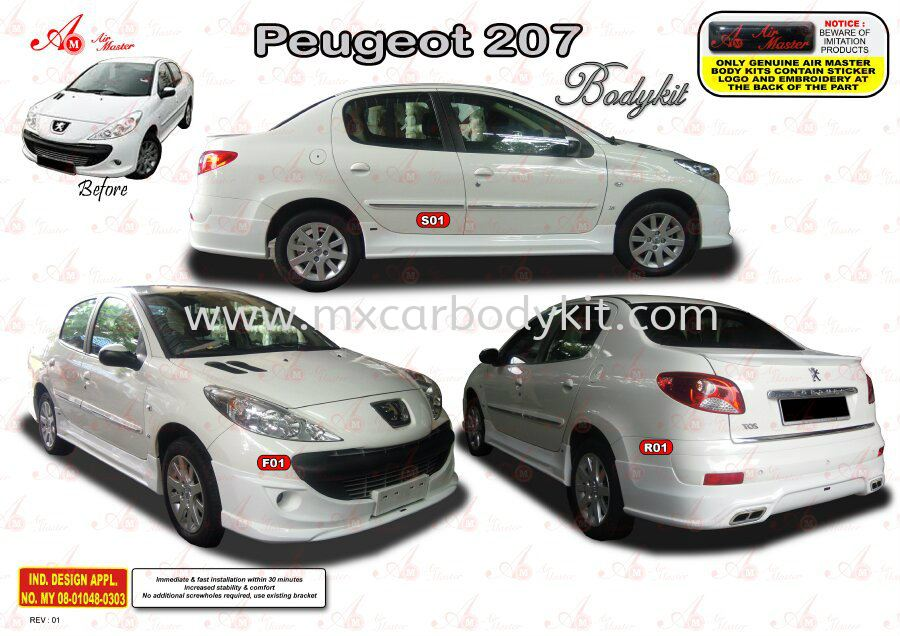 PEUGEOT 207 AM STYLE BODYKIT 207 PEUGEOUT Johor, Malaysia, Johor Bahru (JB), Masai. Supplier, Suppliers, Supply, Supplies | MX Car Body Kit