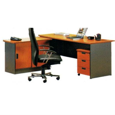 Executive Desk V (G-Series+Side Cabinet)