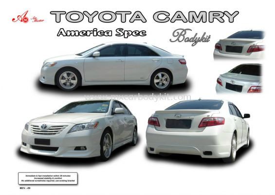 TOYOTA CAMRY AMERICA SPEC AM STYLE BODY KIT + SPOILER