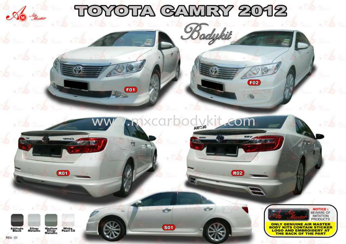 TOYOTA CAMRY 2012 AM STYLE BODYKIT + SPOILER CAMRY 2012 TOYOTA Johor, Malaysia, Johor Bahru (JB), Masai. Supplier, Suppliers, Supply, Supplies | MX Car Body Kit