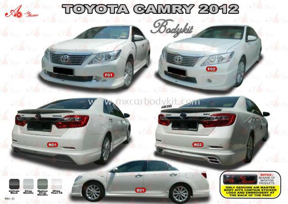 TOYOTA CAMRY 2012 AM STYLE BODYKIT + SPOILER