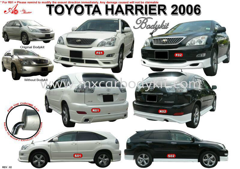 TOYOTA HARRIER 2006 AM STYLE BODY KIT  HARRIER 2006 TOYOTA Johor, Malaysia, Johor Bahru (JB), Masai. Supplier, Suppliers, Supply, Supplies | MX Car Body Kit