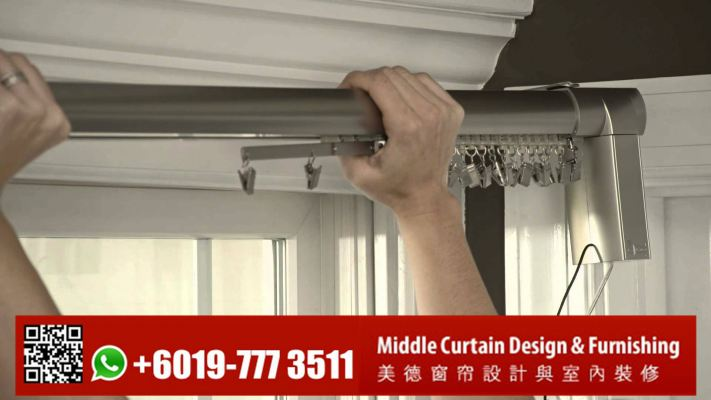 Remote Motorized Curtain Rod System