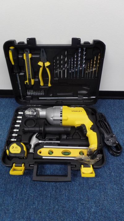 STANLEY IMPACT DRILL 13MM WITH HAND TOOL SET