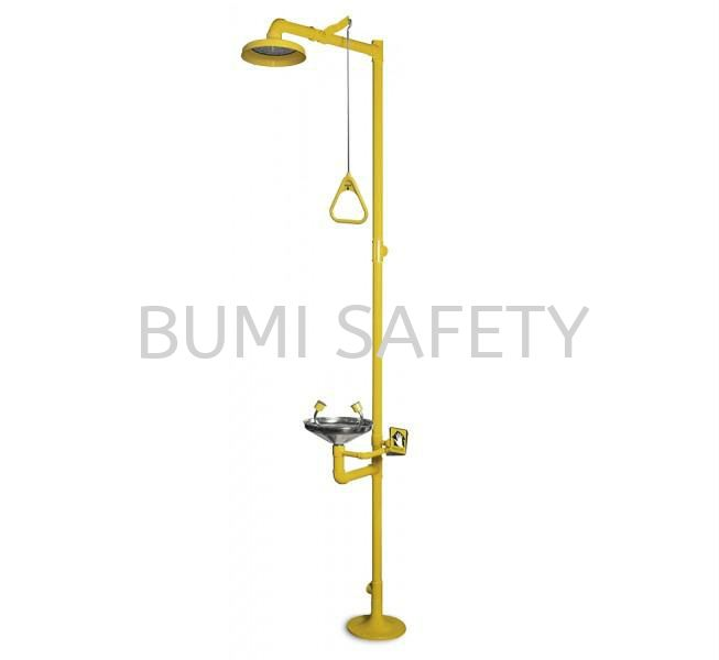 Combination Unit Of ABS Drench Shower & S/Steel Eyewash Bowl Emergency Response, Eyewash / Shower Selangor, Kuala Lumpur (KL), Puchong, Malaysia Supplier, Suppliers, Supply, Supplies | Bumi Nilam Safety Sdn Bhd