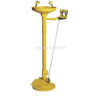 Pedestal Mounted Eyewash With Foot Pedal Abs Bowl