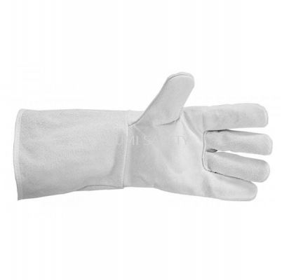 Full Leather Gloves - Grey, 13