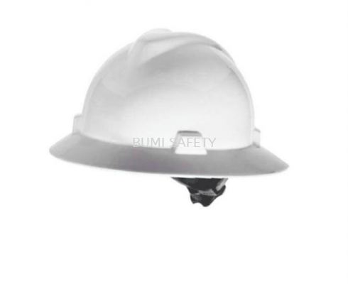 Industrial Safety Helmet Msa Full Brim V-Gard Hard Hats